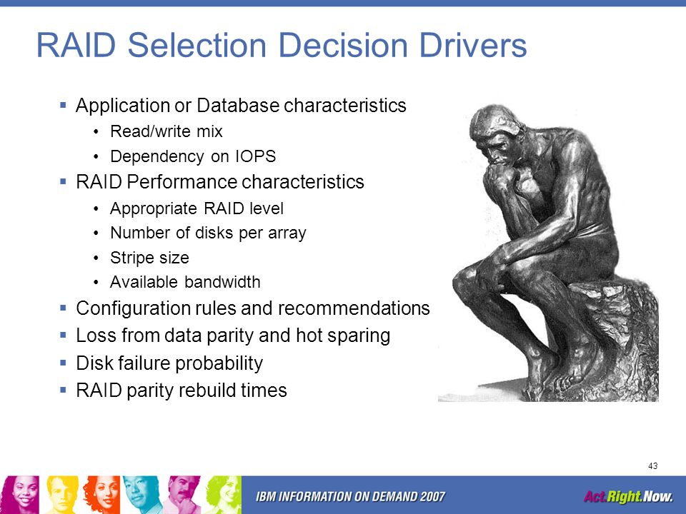 RAID Selection Decision Drivers