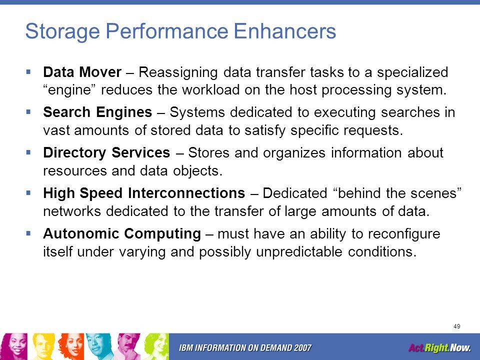Storage Performance Enhancers