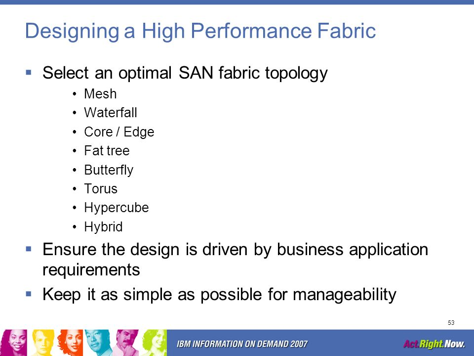 Designing a High Performance Fabric