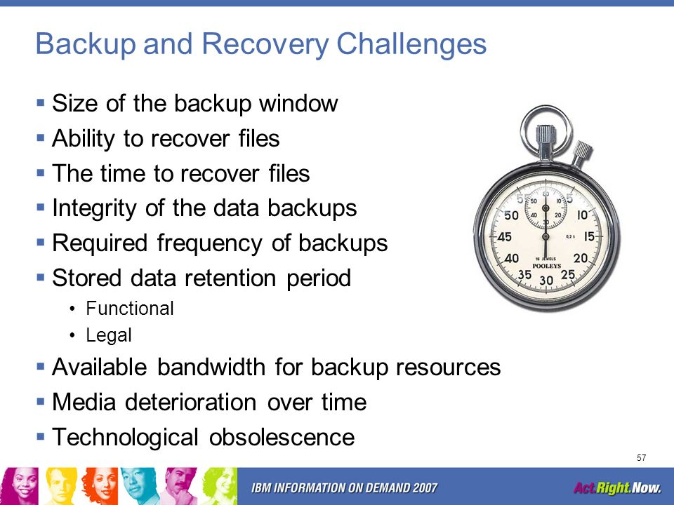 Backup and Recovery Challenges