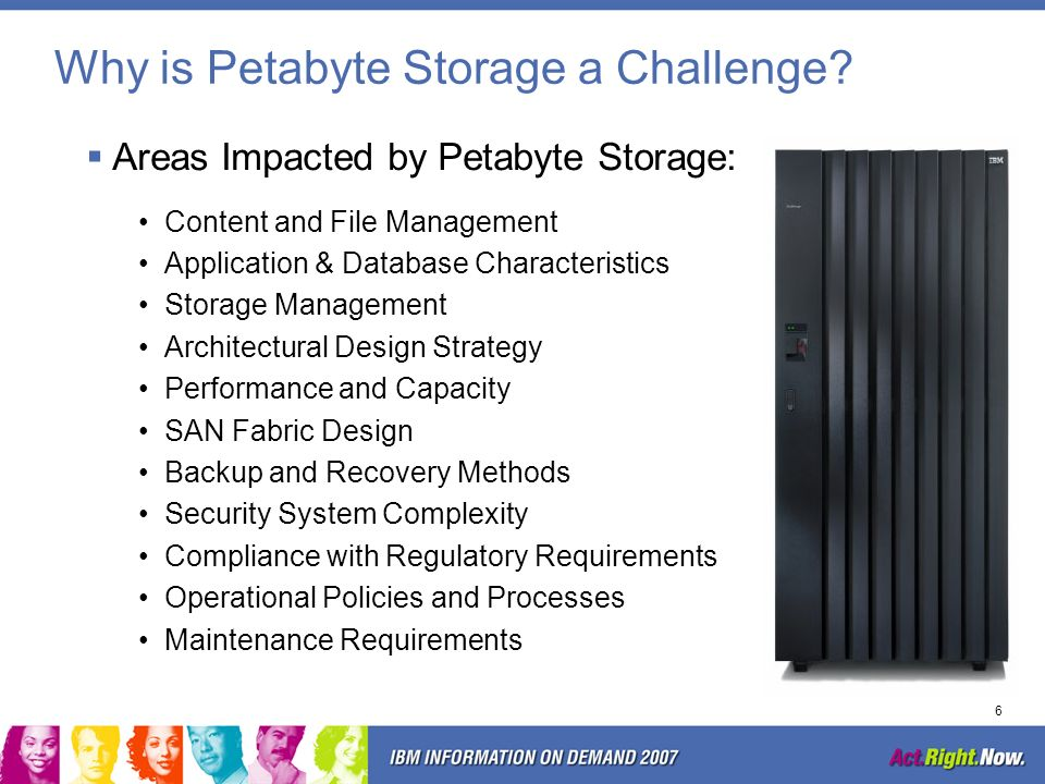 Why is Petabyte Storage a Challenge