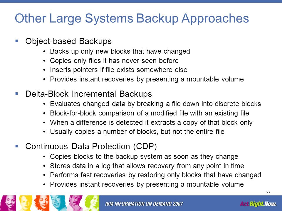 Other Large Systems Backup Approaches