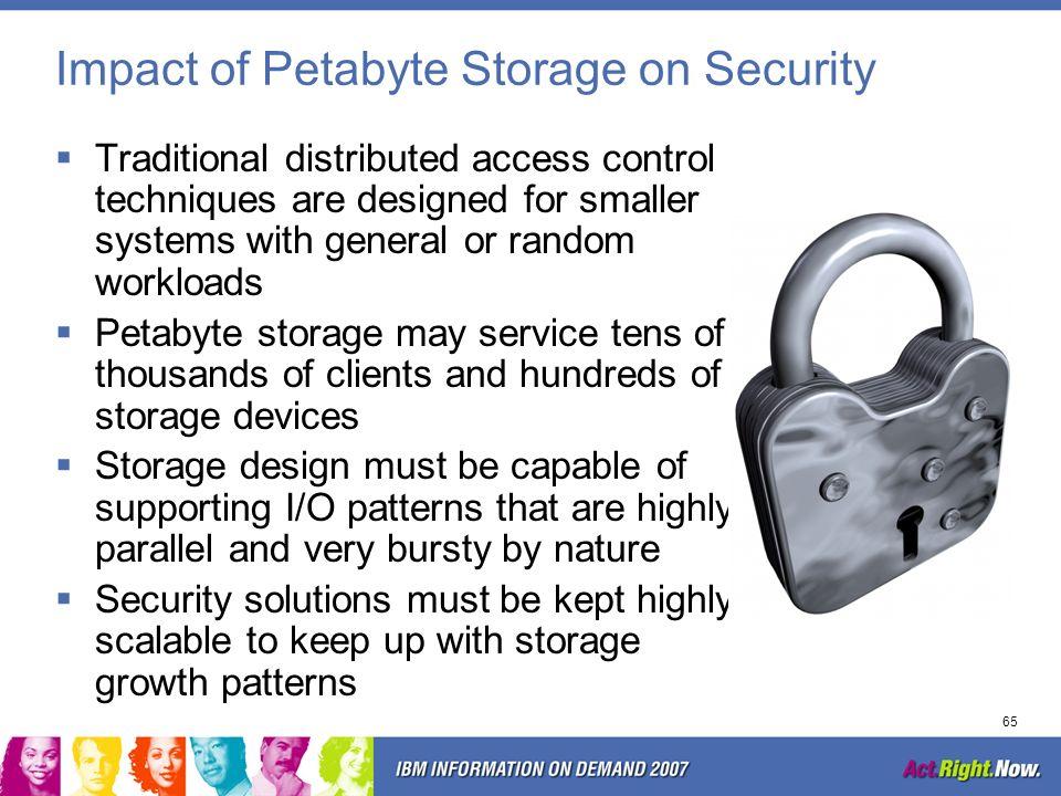 Impact of Petabyte Storage on Security