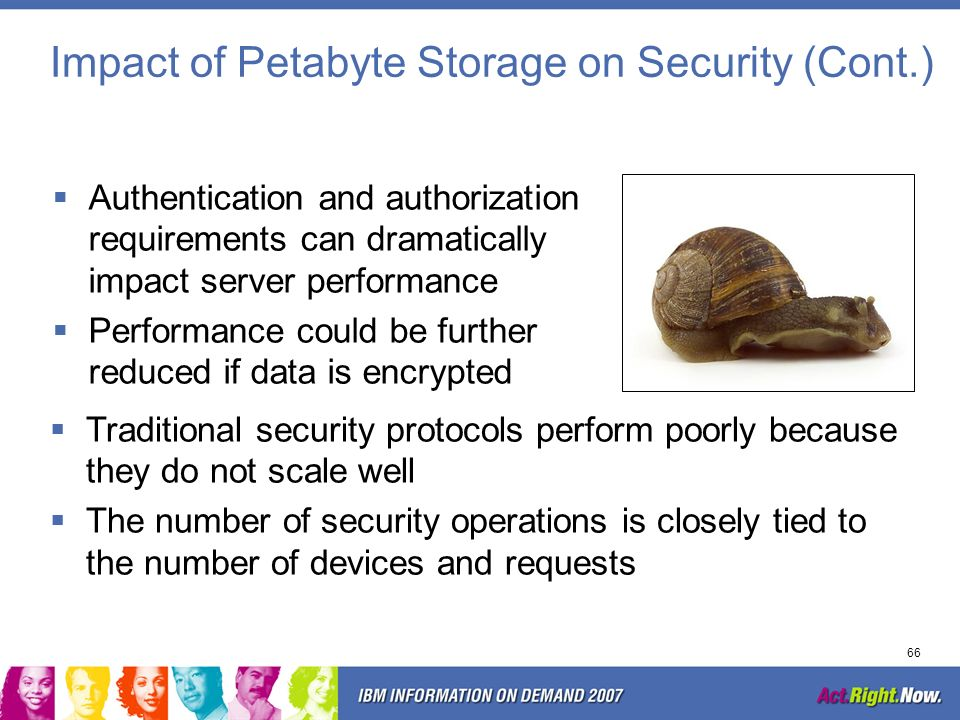 Impact of Petabyte Storage on Security (Cont.)