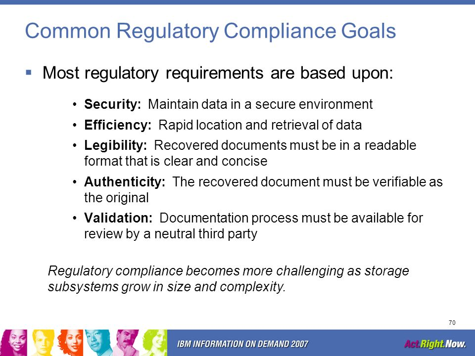 Common Regulatory Compliance Goals