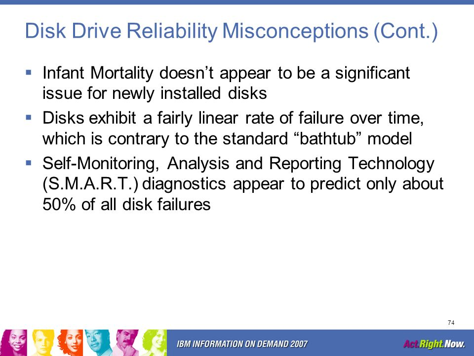 Disk Drive Reliability Misconceptions (Cont.)