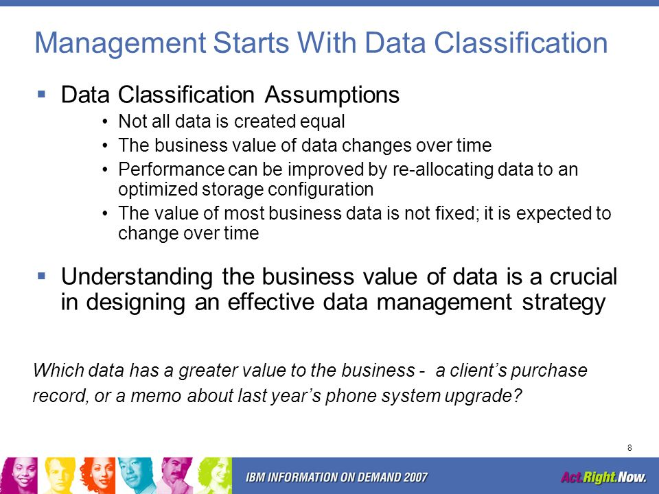 Management Starts With Data Classification