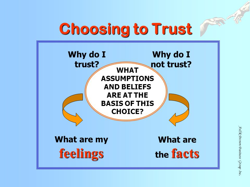 WHAT ASSUMPTIONS AND BELIEFS ARE AT THE BASIS OF THIS CHOICE