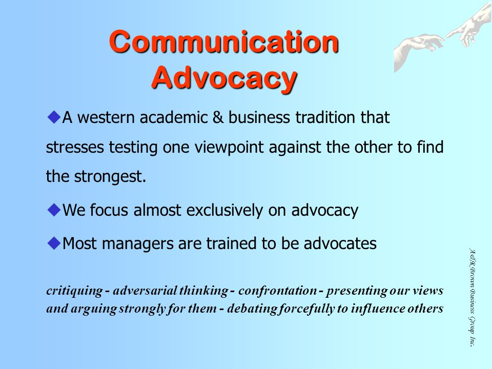 Communication Advocacy