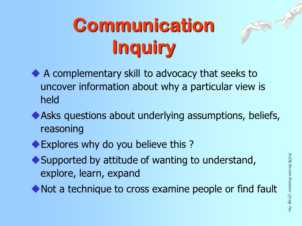 Communication Inquiry