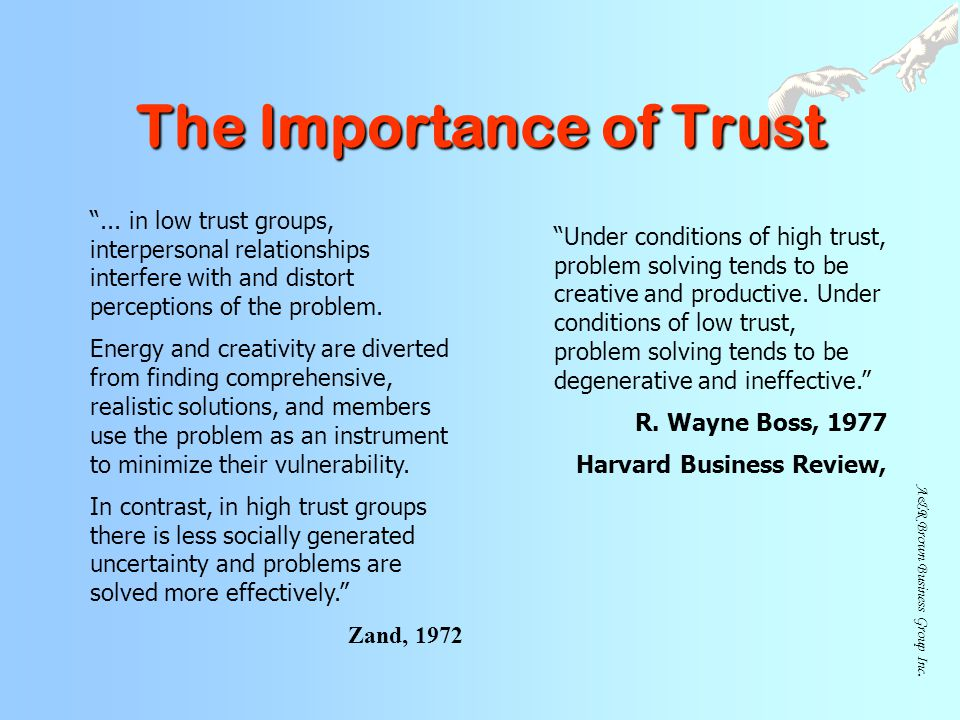 The Importance of Trust