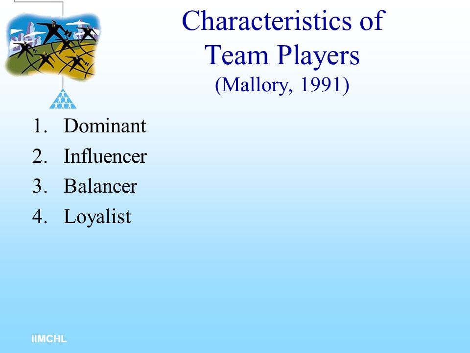Characteristics of Team Players (Mallory, 1991)