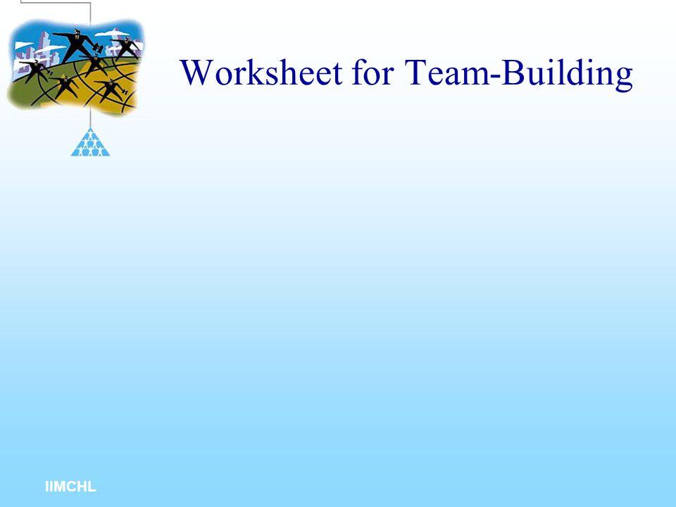 Worksheet for Team-Building