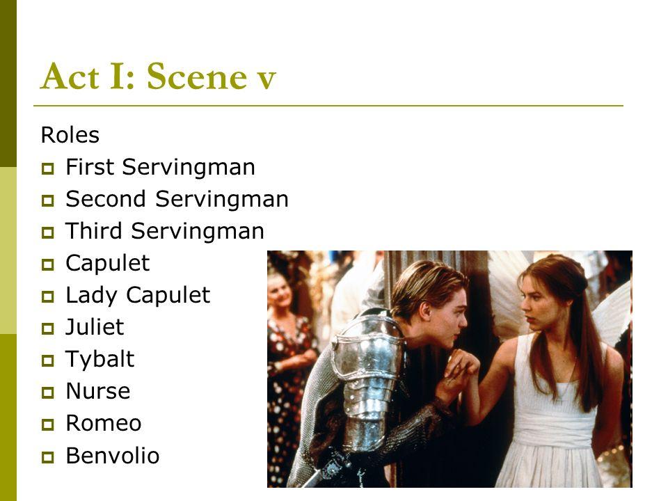 Act I: Scene v Roles First Servingman Second Servingman