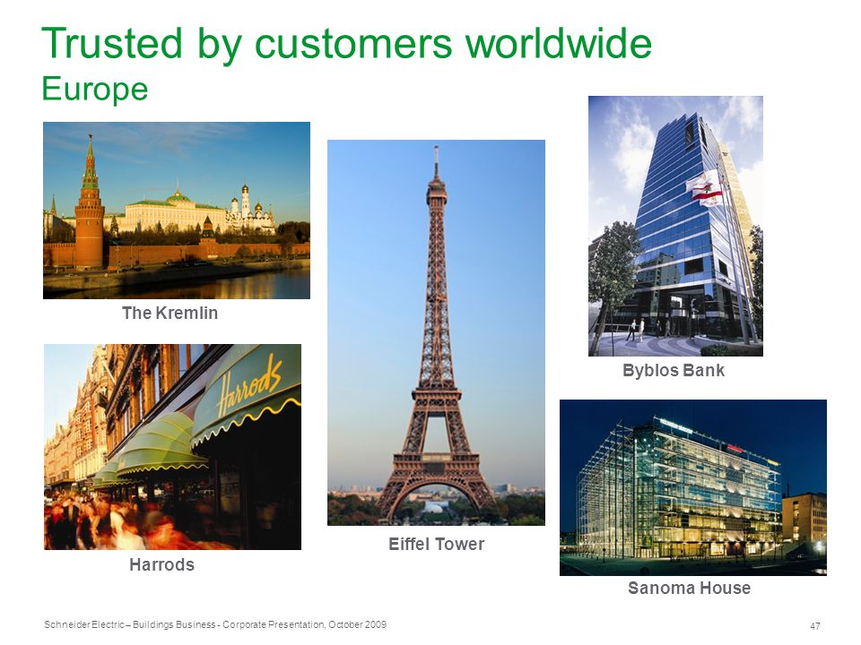 Trusted by customers worldwide Europe