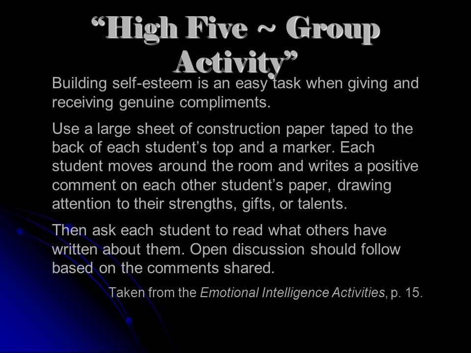 High Five ~ Group Activity