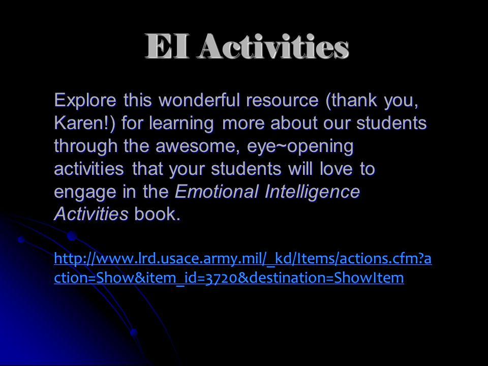 EI Activities