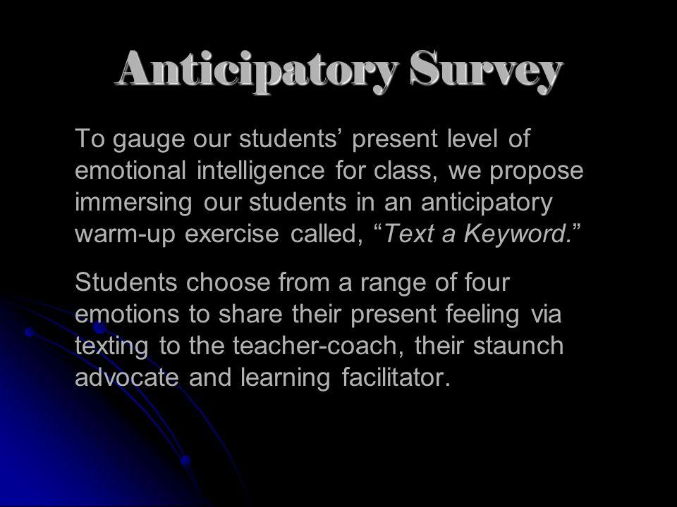 Anticipatory Survey