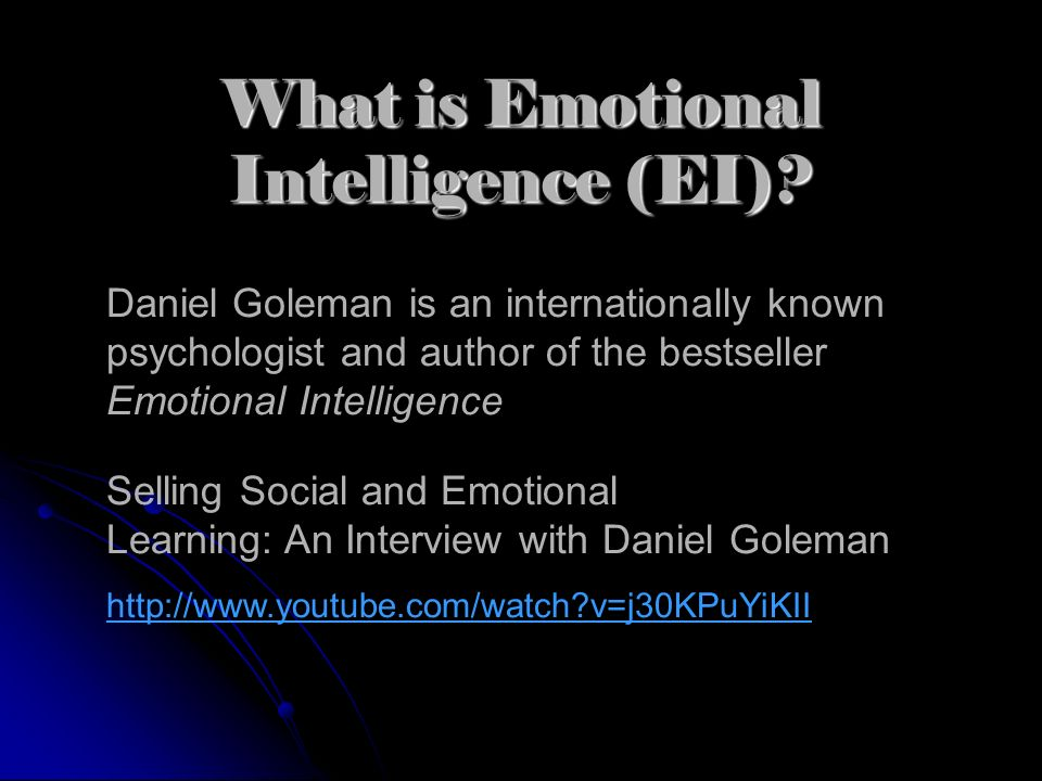 What is Emotional Intelligence (EI)