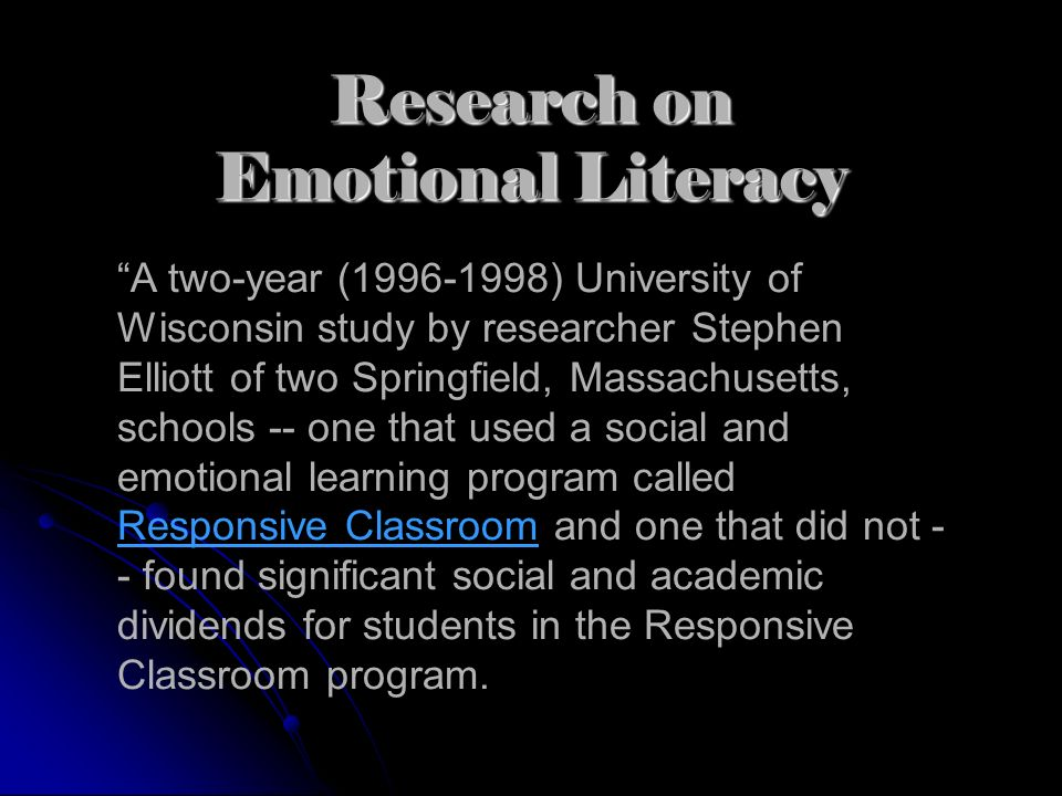 Research on Emotional Literacy