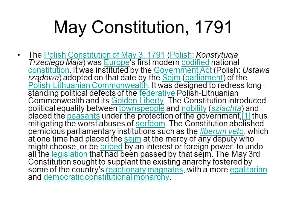 May Constitution, 1791