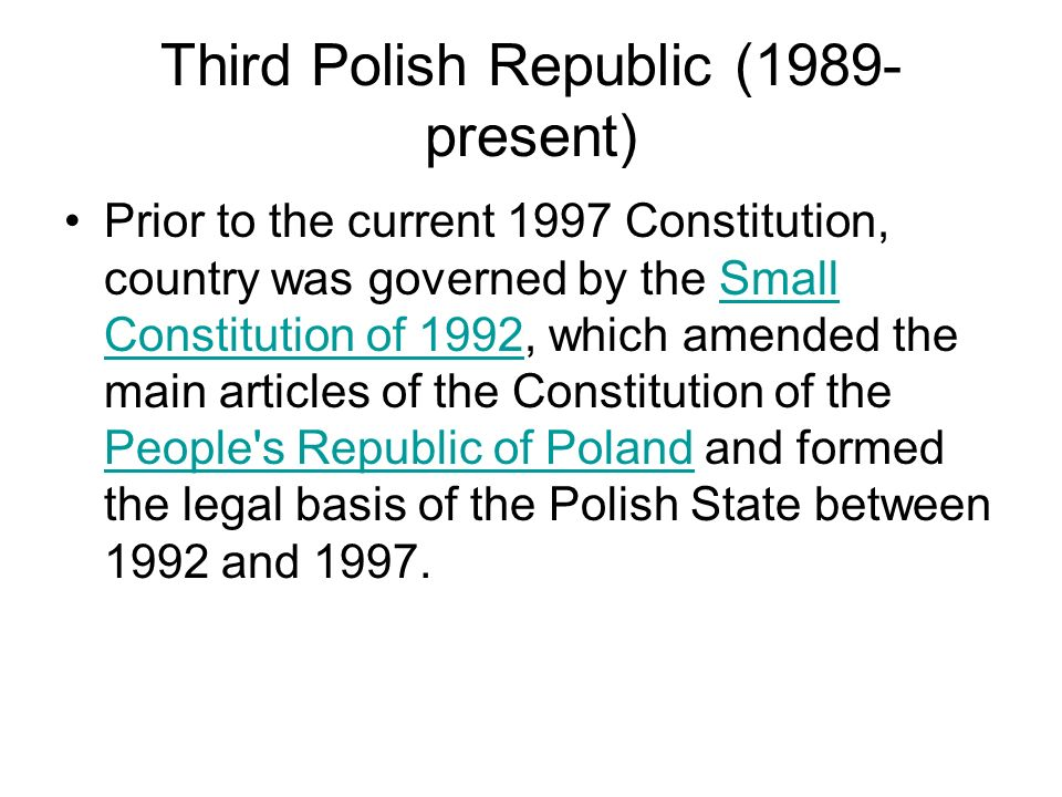 Third Polish Republic (1989-present)