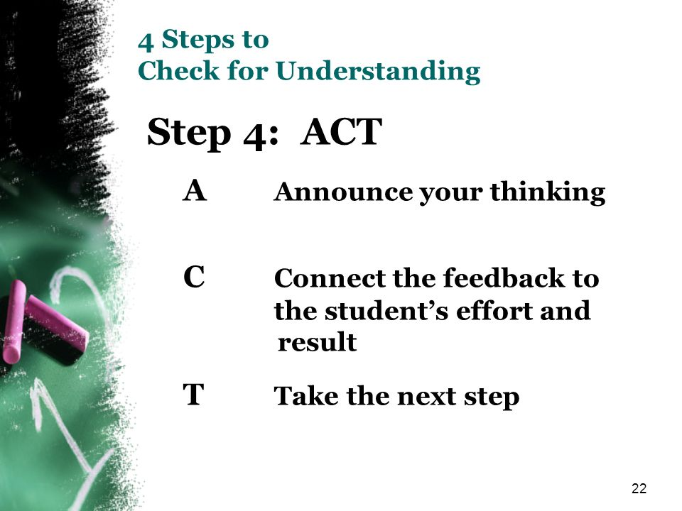 4 Steps to Check for Understanding