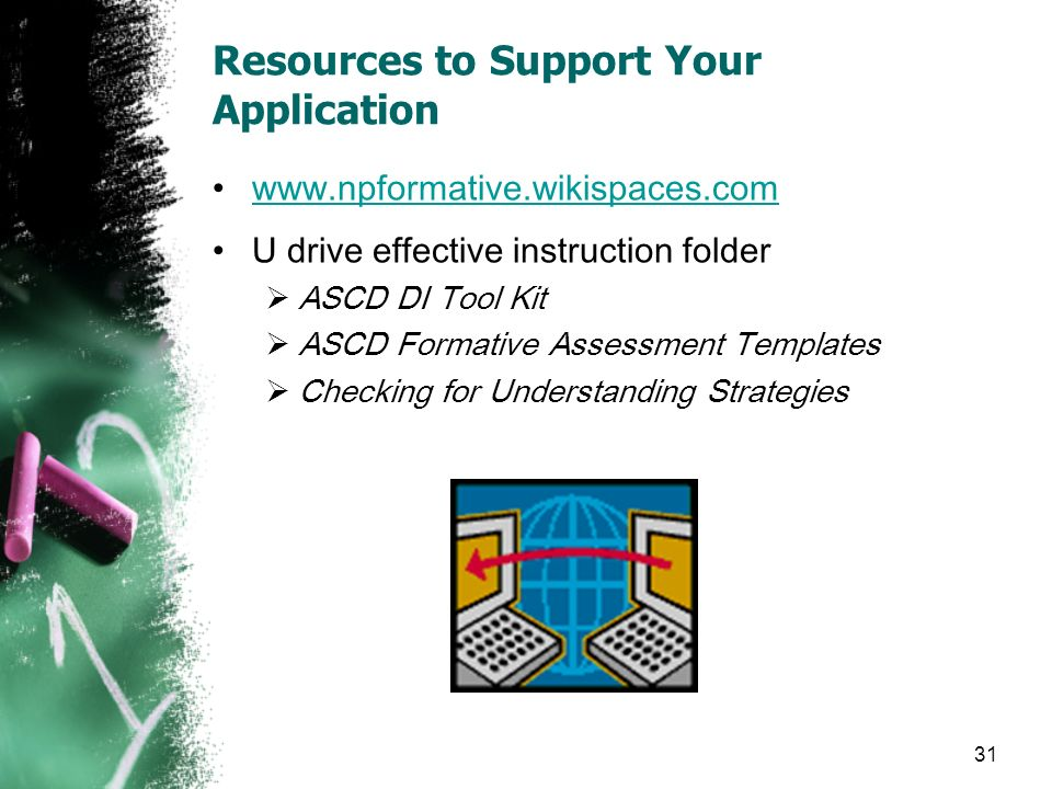 Resources to Support Your Application