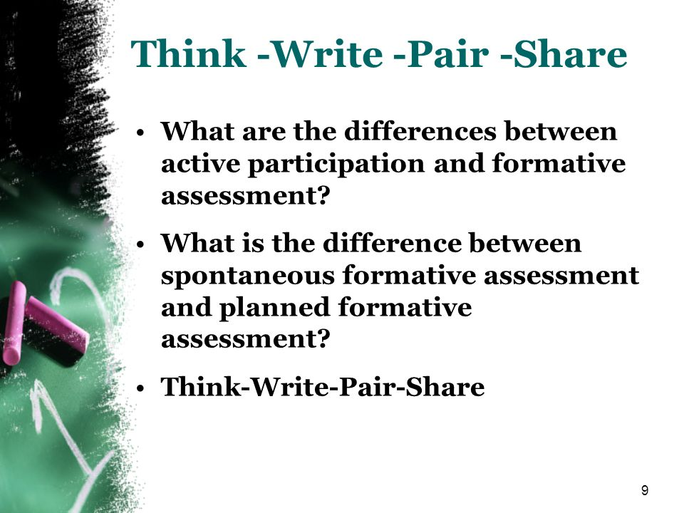 Think -Write -Pair -Share