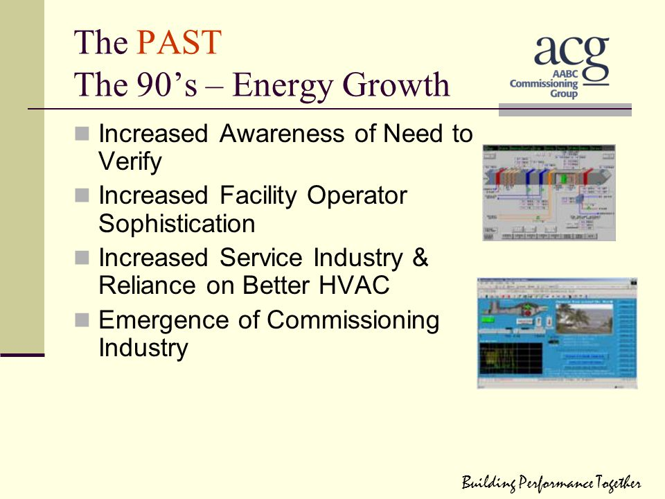 The PAST The 90's – Energy Growth