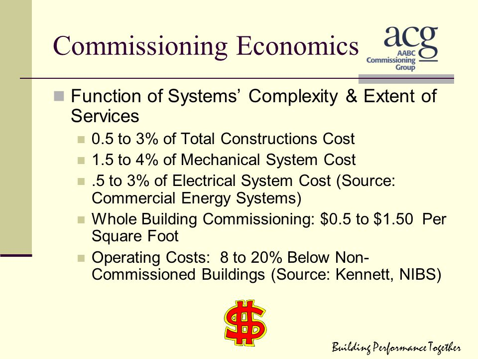 Commissioning Economics