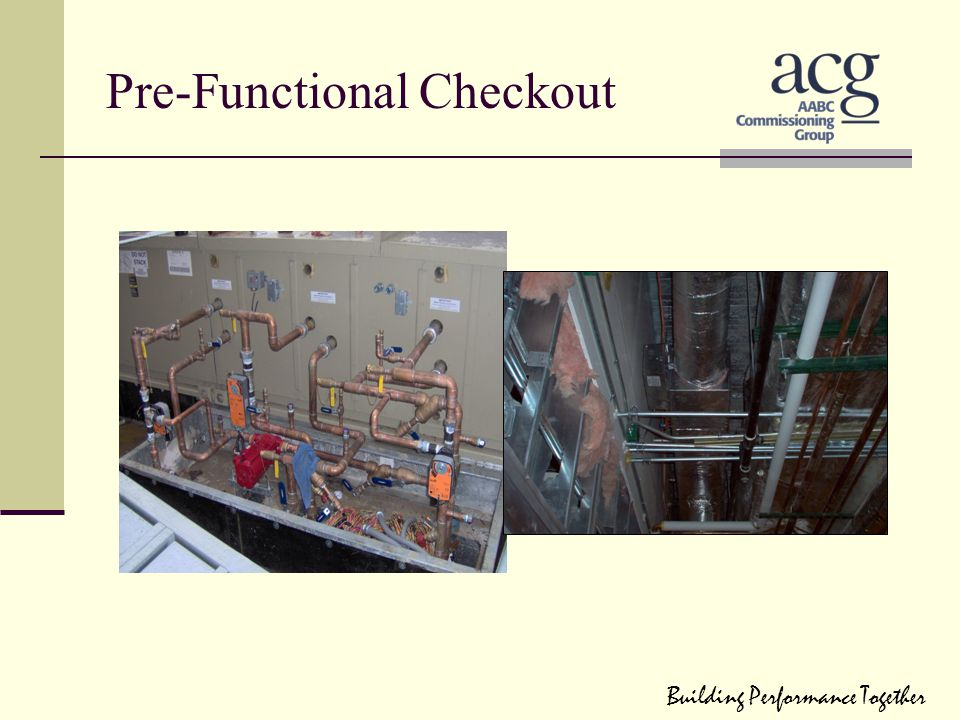 Pre-Functional Checkout