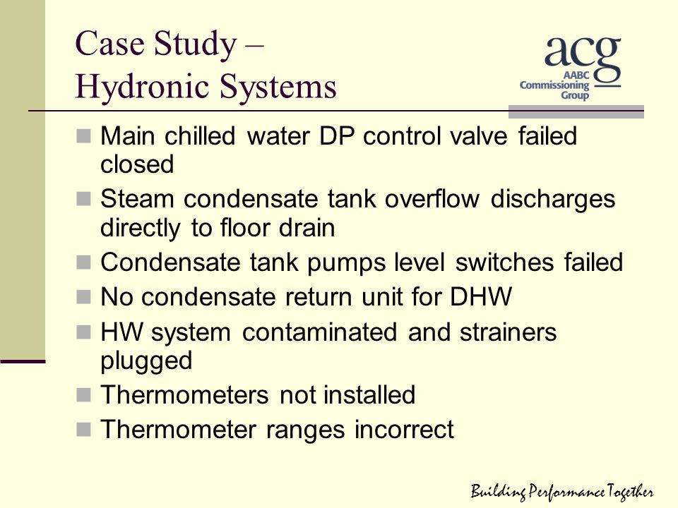 Case Study – Hydronic Systems
