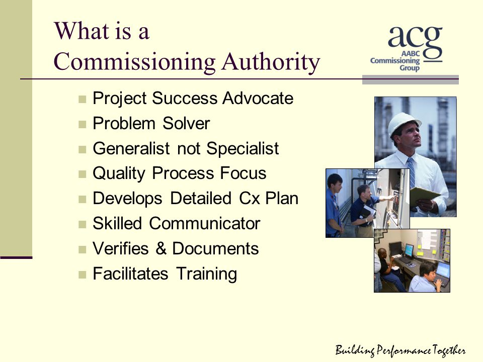 What is a Commissioning Authority