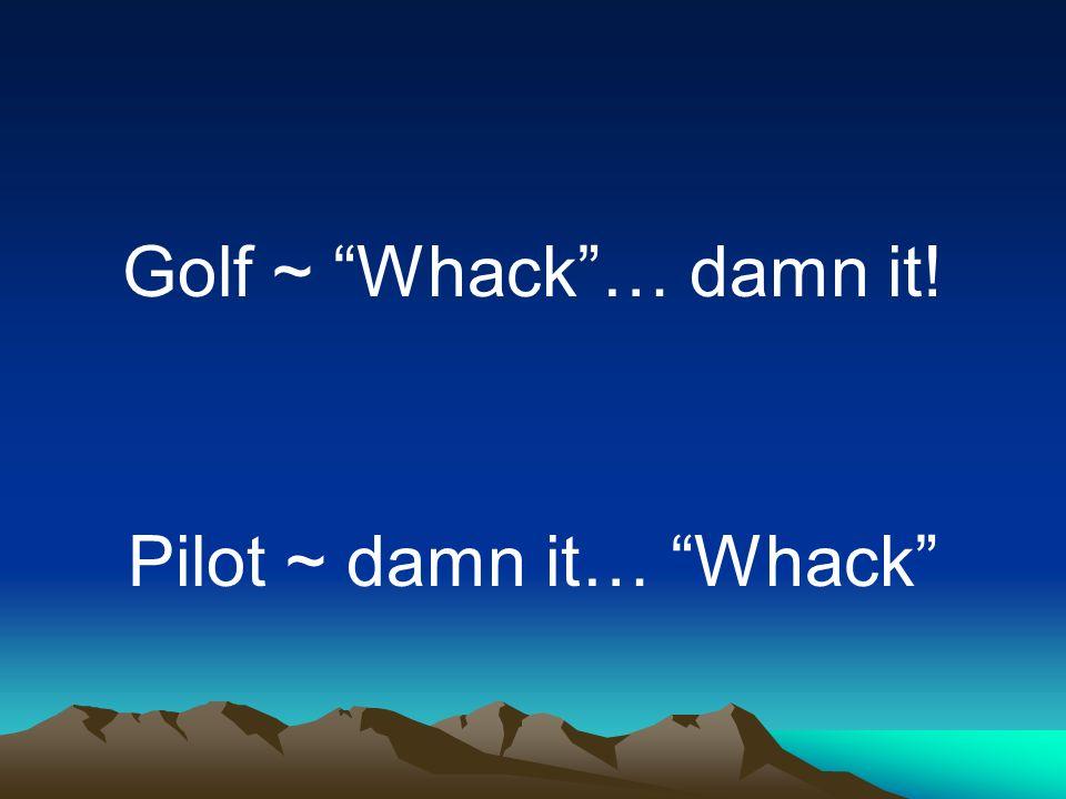 Pilot ~ damn it… Whack