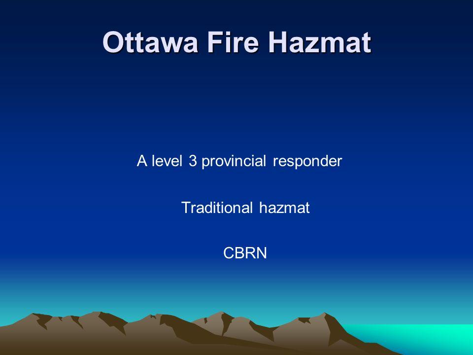 A level 3 provincial responder