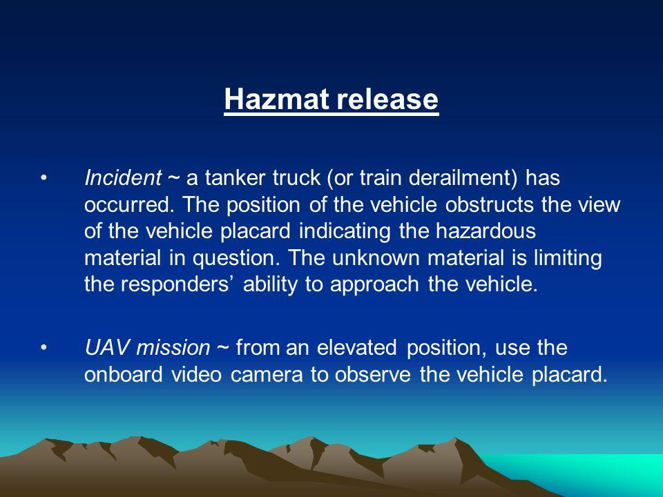 Hazmat release