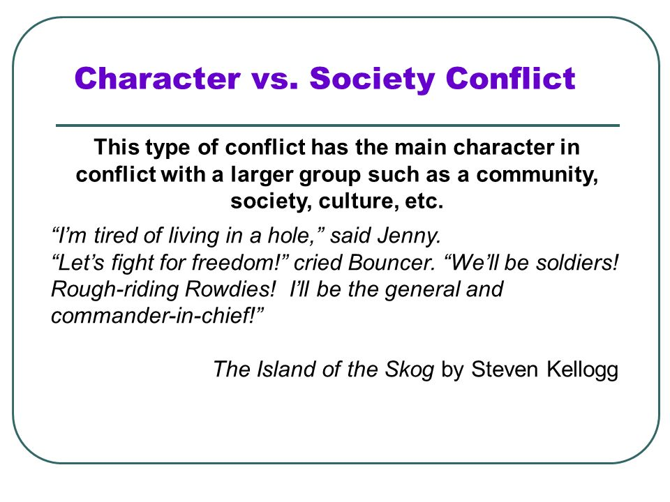 Character vs. Society Conflict