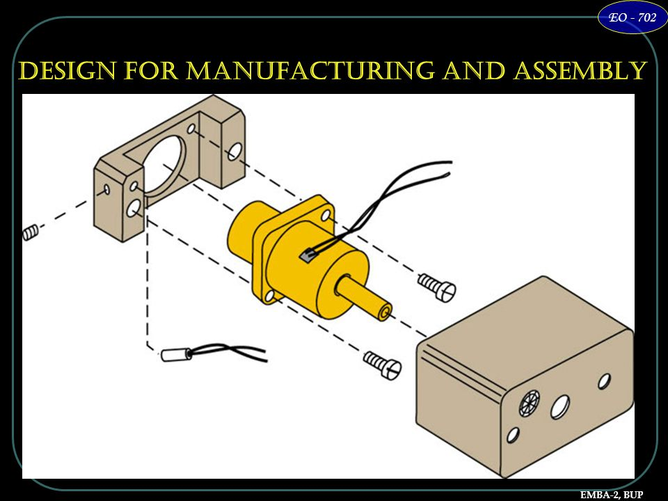 Design for Manufacturing and Assembly