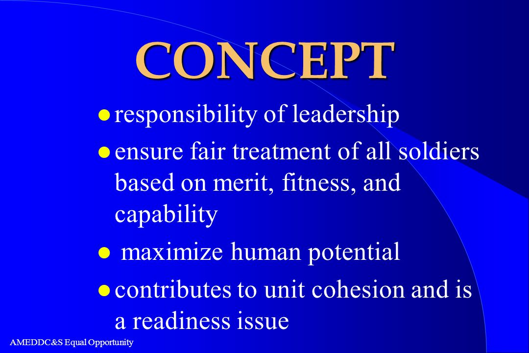 CONCEPT responsibility of leadership