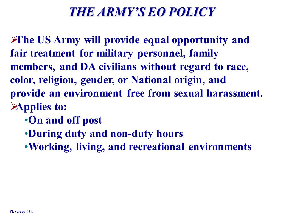 the armys sharp policies apply without regard