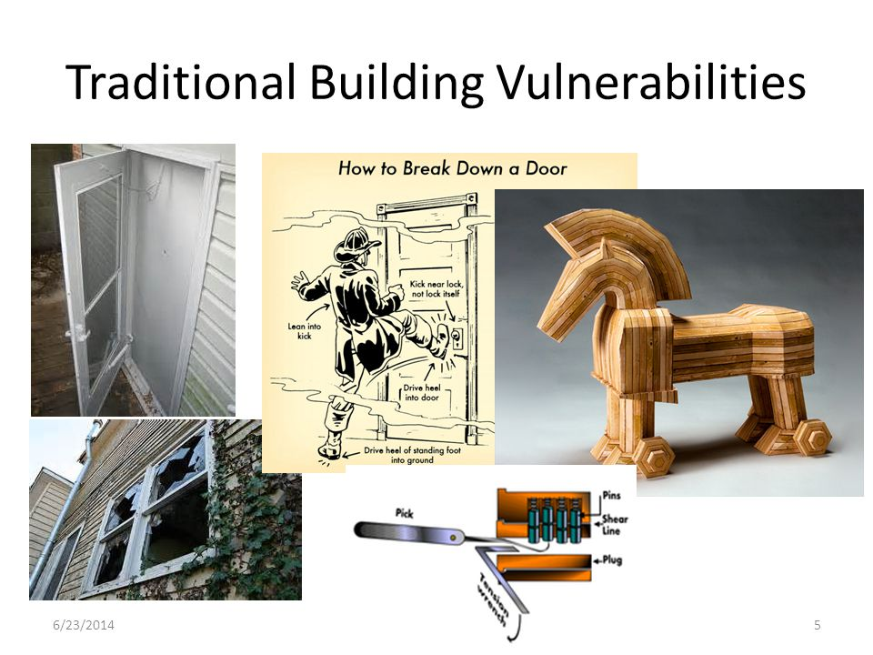 Traditional Building Vulnerabilities