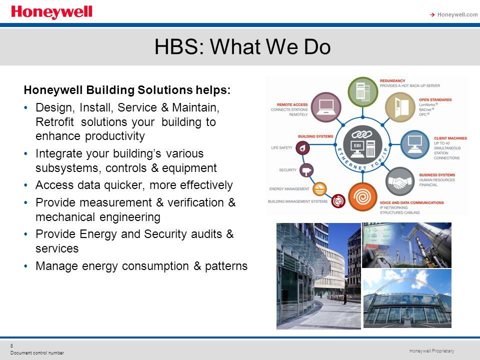 HBS: What We Do Honeywell Building Solutions helps: