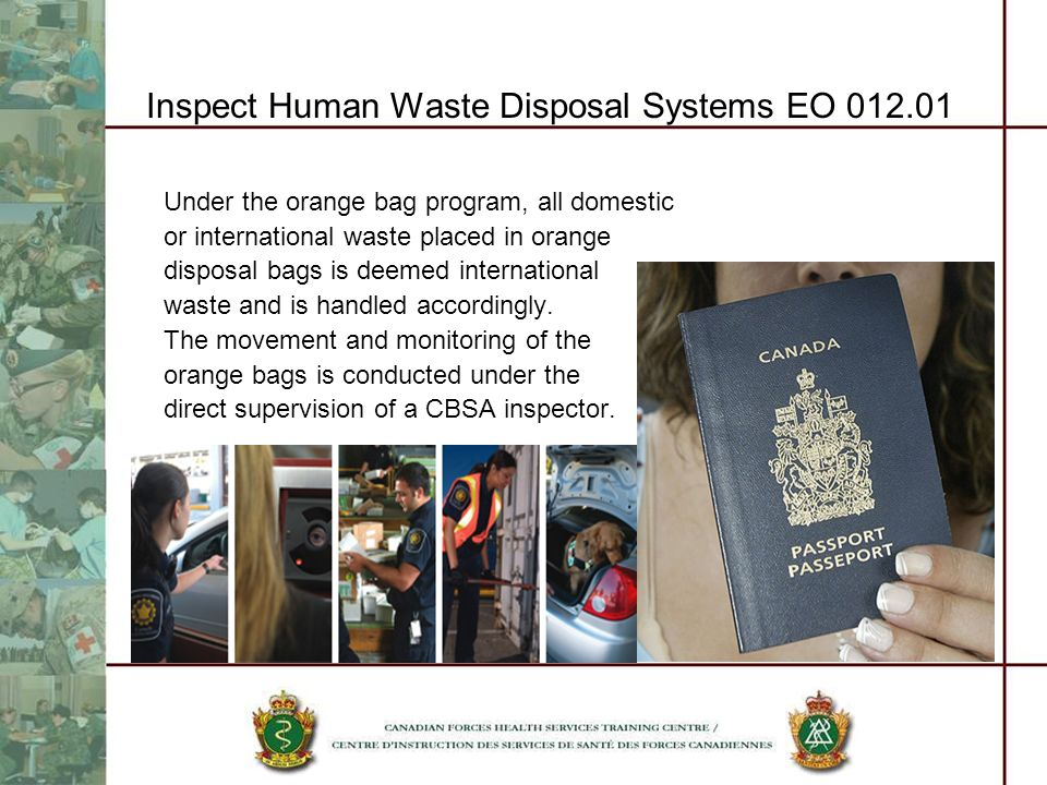 Inspect Human Waste Disposal Systems EO 012.01