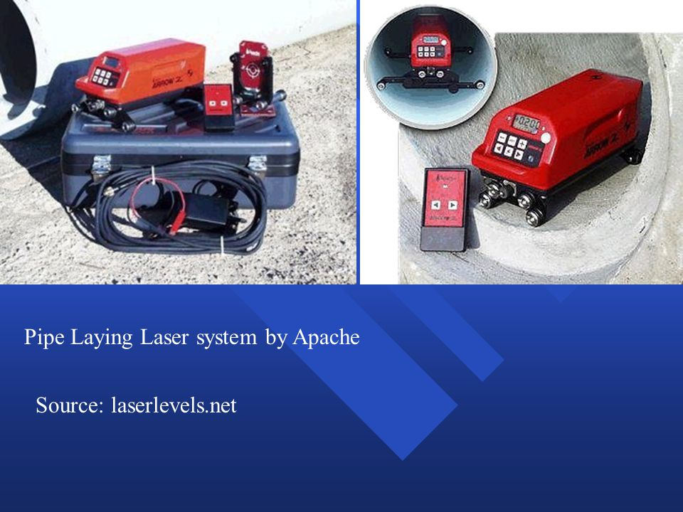 Pipe Laying Laser system by Apache