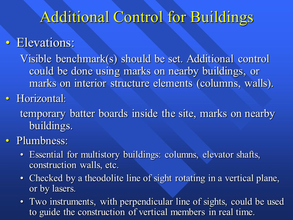 Additional Control for Buildings