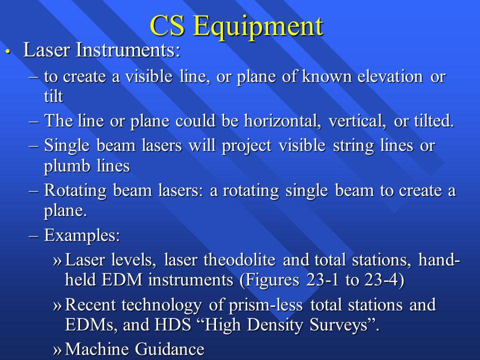 CS Equipment Laser Instruments: