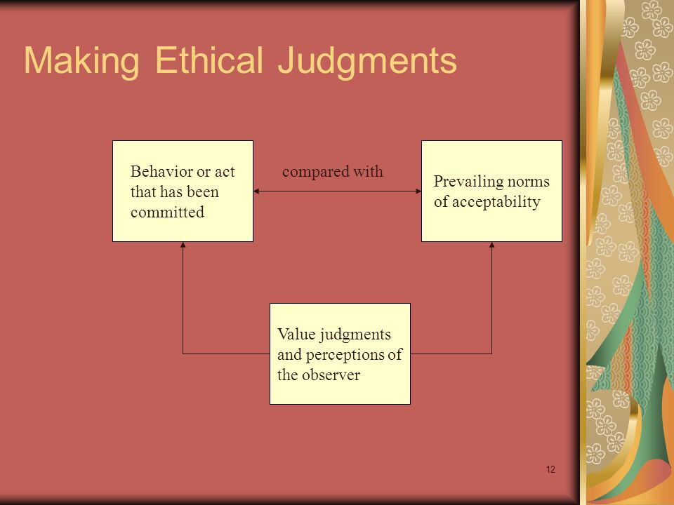 Making Ethical Judgments