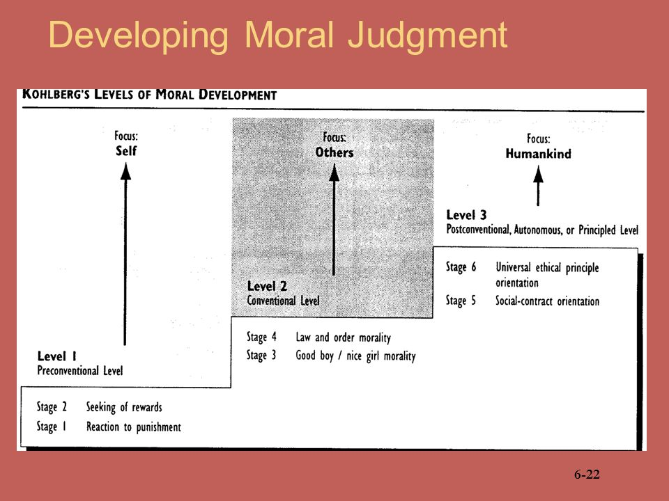 Developing Moral Judgment