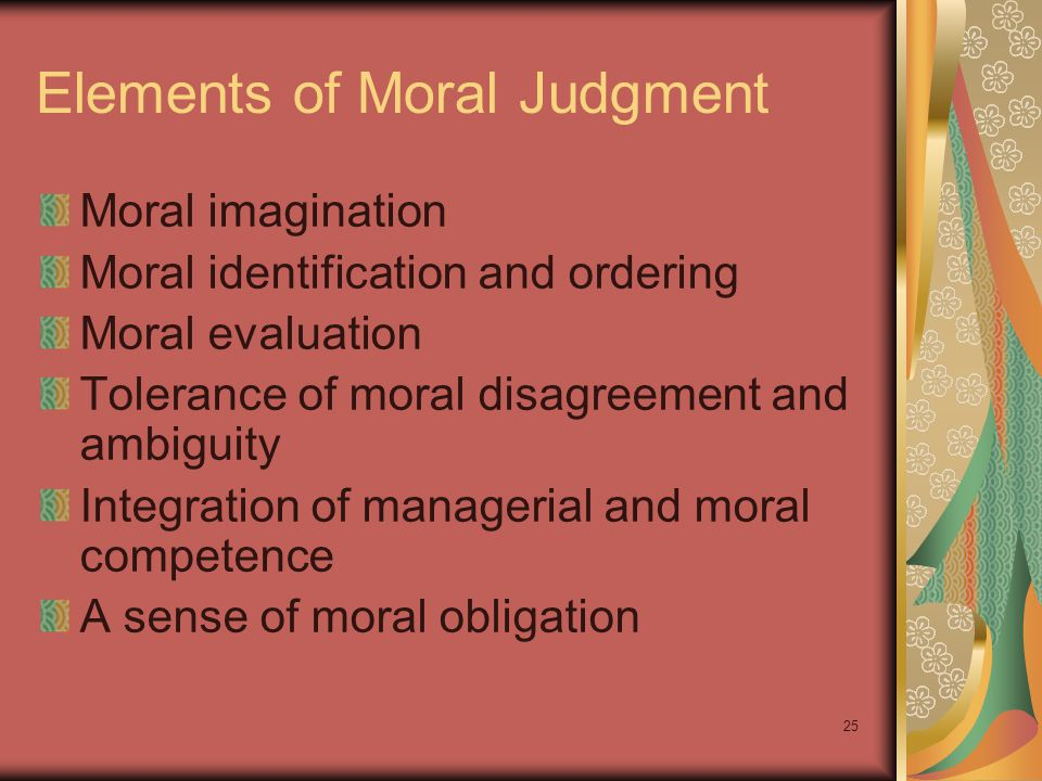 Elements of Moral Judgment